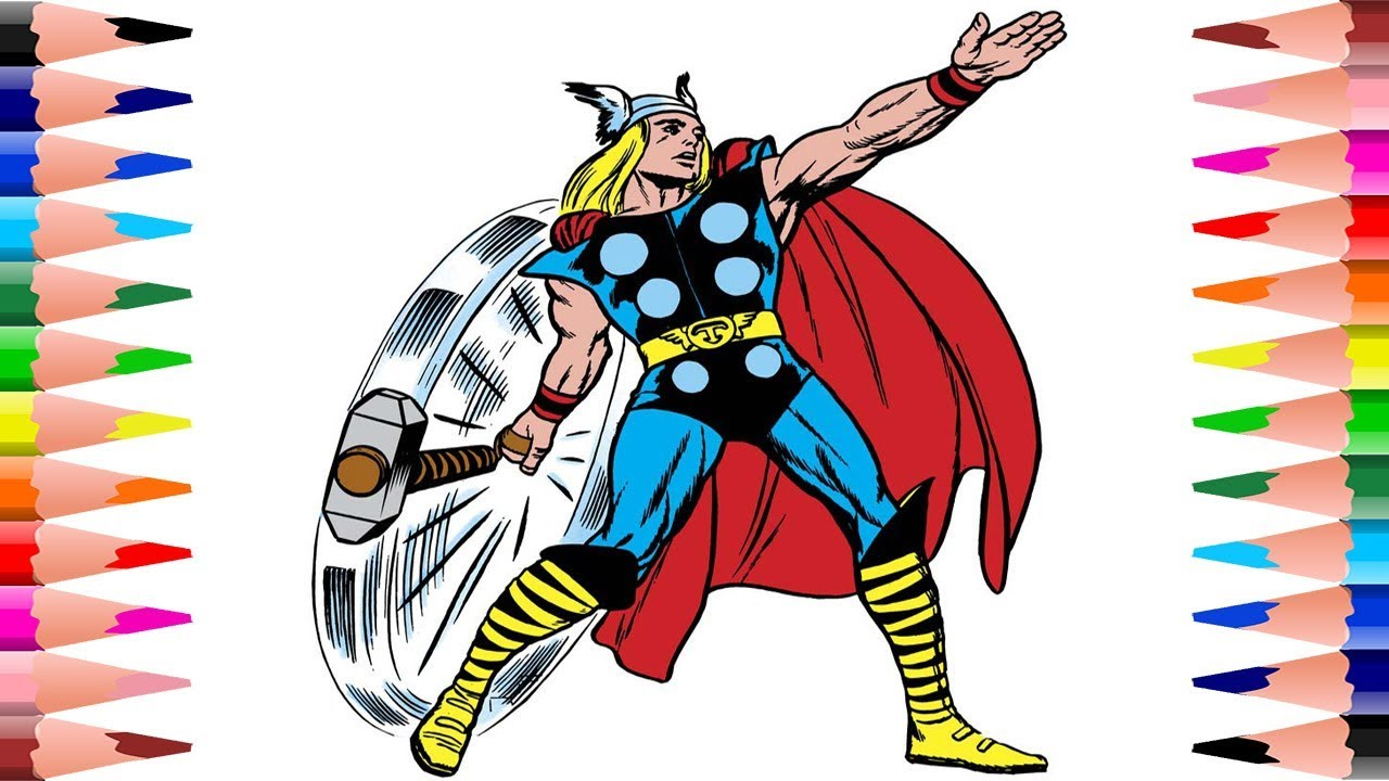 thor logo coloring vector and clip art inspiration