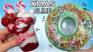 Facciamo 2 SLIME di NATALE! Candy Cane Cake e Ghirlanda Slime!✿