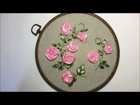 Вышивка лентами цветы для начинающих пошагово