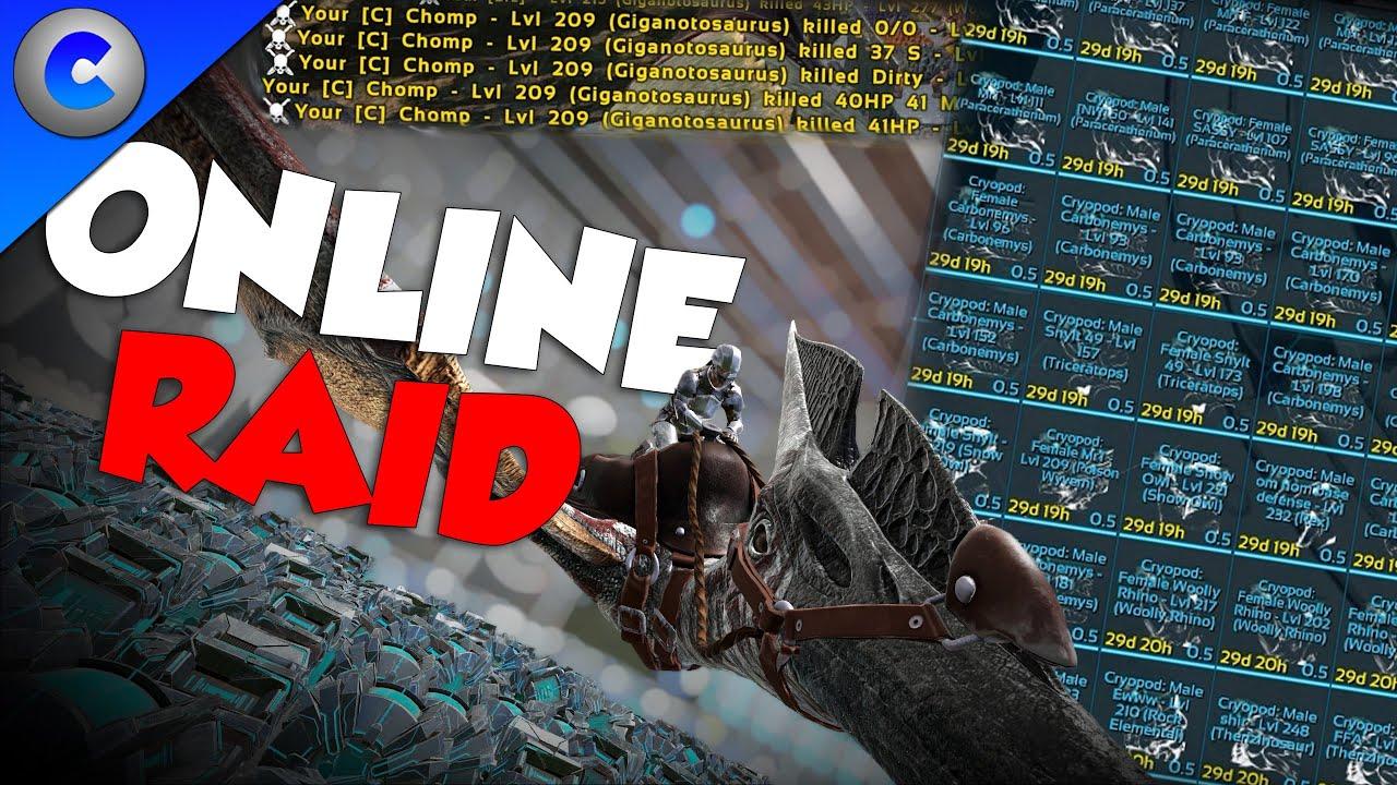 ONLINE RAIDING TOXIC PLAYERS - ARK Survival Evolved thumbnail
