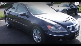 2005 Acura RL SH-AWD Walkaround, Start up, Tour and Overview