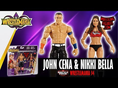 "WWE FIGURE INSIDER: Nikki Bella & John Cena - WWE Battle Packs ""WrestleMania 34"" thumbnail"