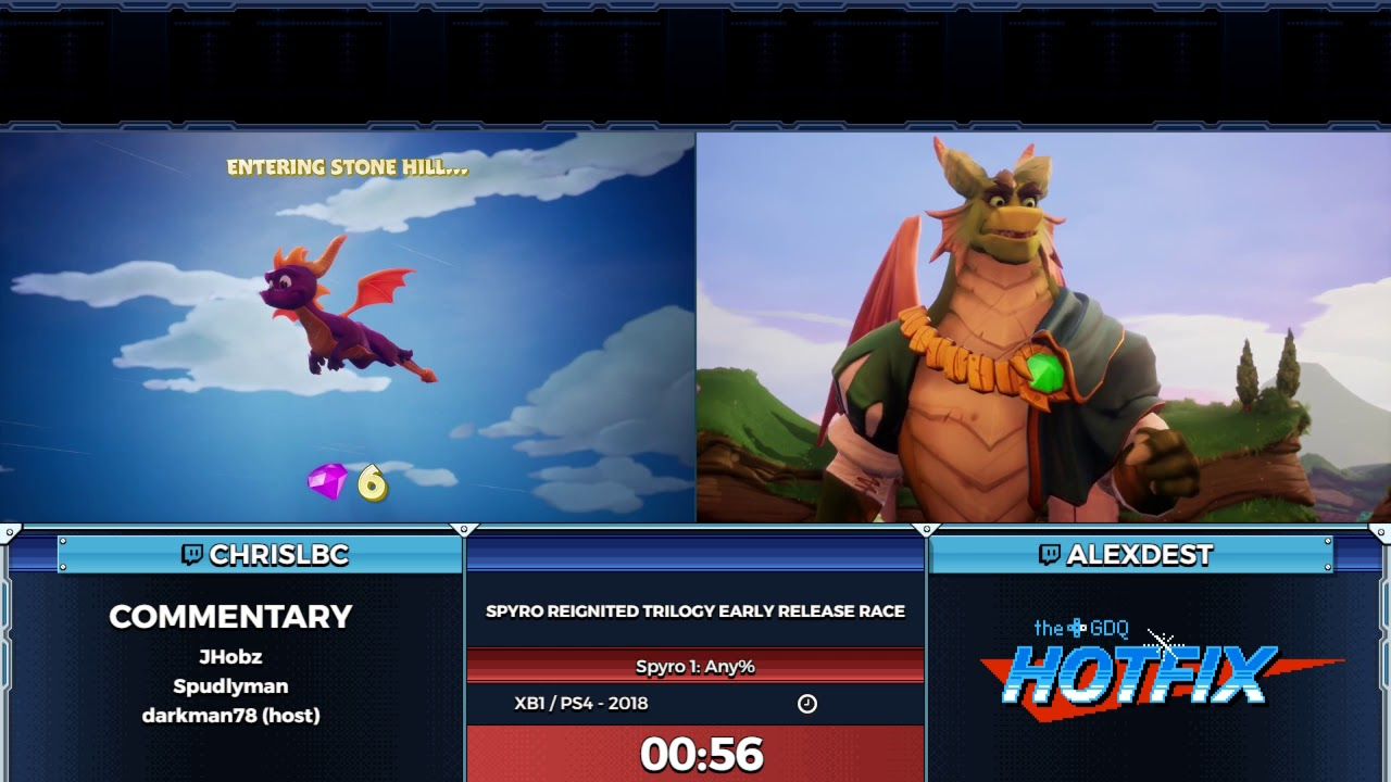 GDQ Hotfix presents: Spyro Reignited Trilogy early release race!