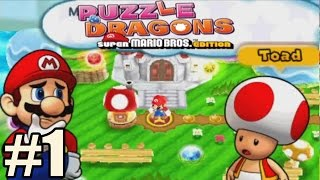 Puzzle & Dragons Super Mario Bros Edition - Walkthrough Gameplay Part 1 [ 3DS ]