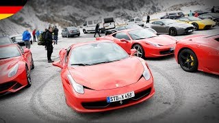 Es lag schon Schnee!! 28 Ferraris, Lamborghinis, Aston Martins, Porsches, Bentleys & ...
