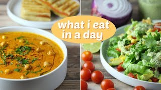 What I Eat in a Day ( Vegan + Easy ) // Grilled Cheese & Tomato Soup