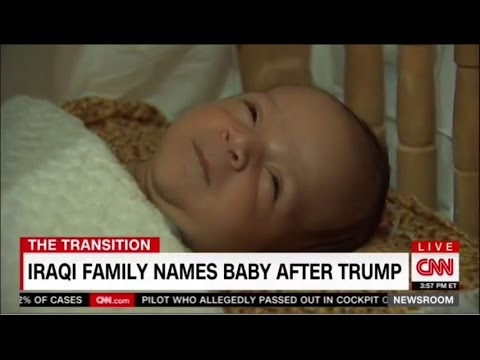 Iraqi family names baby after Donald Trump
