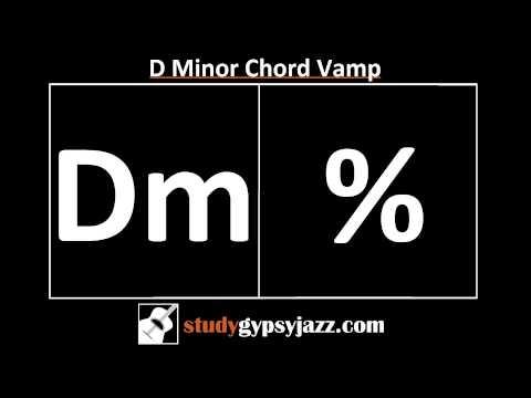 Gypsy Jazz Backing Track / Play Along - Dm Chord Vamp