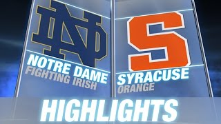 Notre Dame vs. Syracuse | 2014 ACC Football Highlights