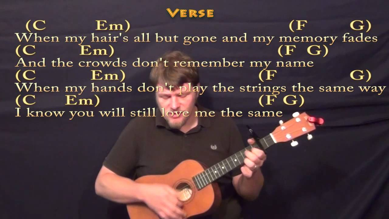 Thinking Out Loud - Baritone Ukulele Cover Lesson with Chords/Lyrics - YouTube