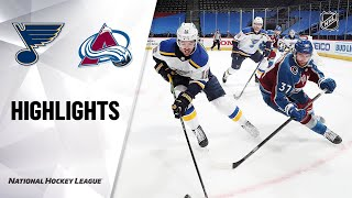 NHL Highlights | Blues @ Avalanche 1/13/21
