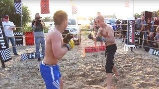 ТЮРЕМЩИК против БОРЦА со стройки !!!!