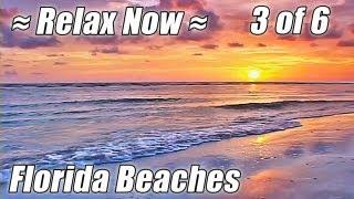 FLORIDA Ocean Sunset Video Relaxation Relaxing Waves Sounds BEACHES #3 Relax Sea Noises Bradenton