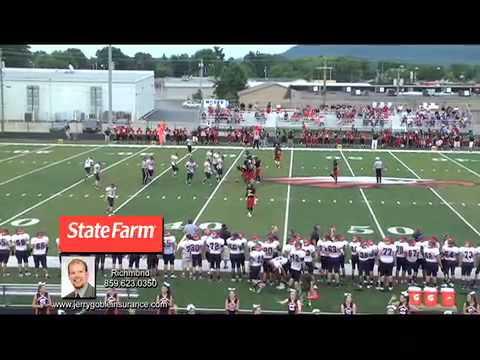 Watch Damien Harris @ Madison Southern High School Football vs GRC scrimmage 2014