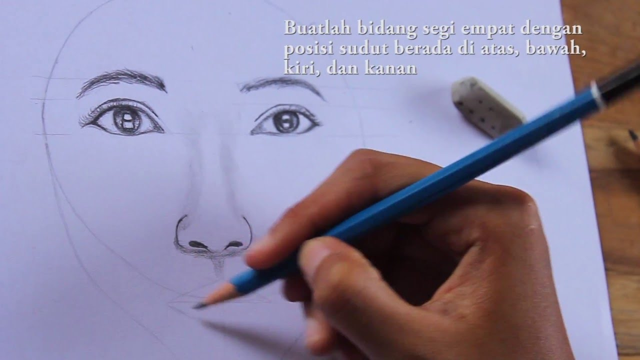 Tutorial Menggambar Wajah Perempuan How To Draw Female Face Step By Step