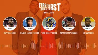 First Things First audio podcast (5.27.19)Cris Carter, Nick Wright, Jenna Wolfe | FIRST THINGS FIRST