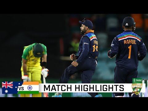 India hold their nerve to win ODI epic in Canberra   Dettol ODI Series 2020