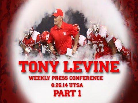 Tony Levine Press Conference: UTSA Part 1