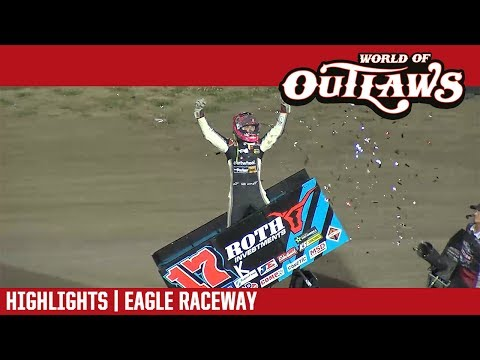 World of Outlaws Craftsman Sprint Cars Eagle Raceway June 13, 2017 | HIGHLIGHTS