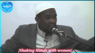 """Shaking hands with Women""