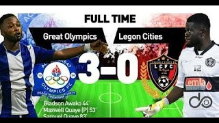 Highlights; Great Olympics vs Legon Cities week 2
