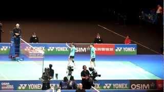 all england badminton 2012 semi final part 2 malaysia vs indonesia