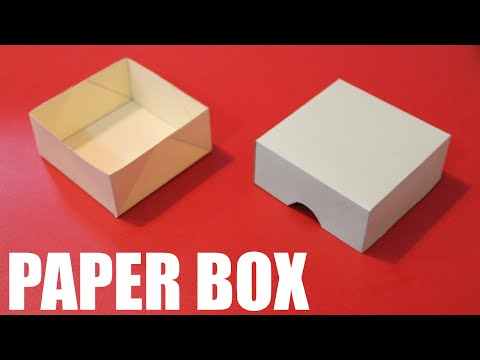 How to make a paper box easy - DIY paper box with lid