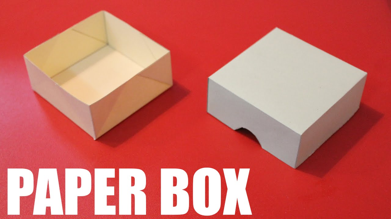 How to make a paper box easy - DIY paper box with lid ...