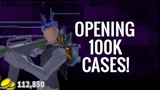 ROBLOX Strucid: OPENING 100k+ money CASES! - Strucid Roblox