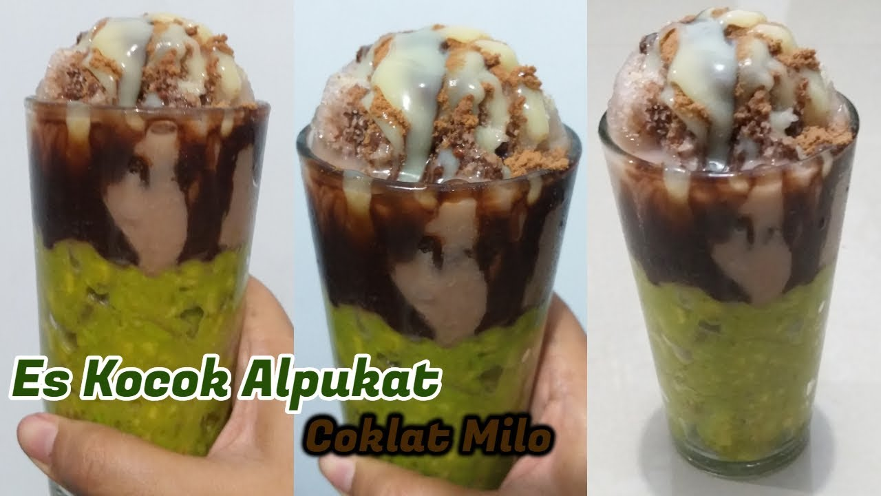 Viral Cara Buat Es Kocok Alpukat Coklat Milo Youtube Food Desserts Make It Yourself