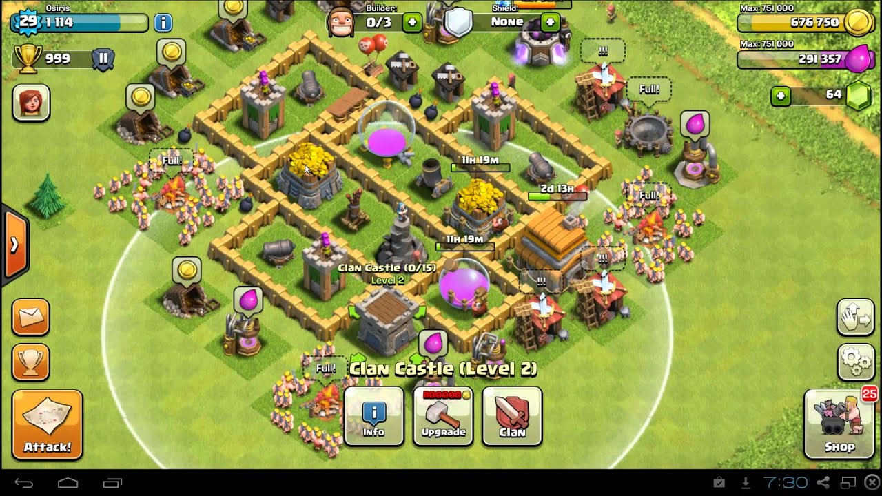 clash of clans town hall 5 farming defense base layout best th5