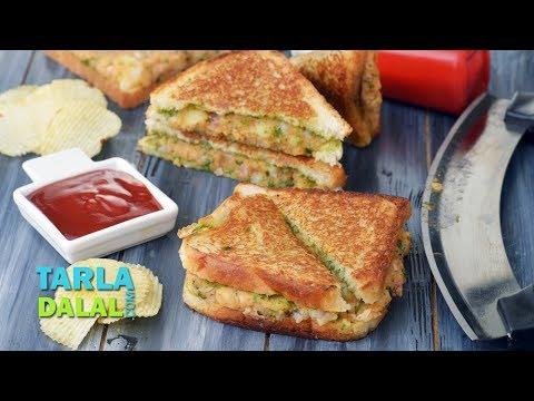 Potato Sandwich Recipe, Aloo Sandwich on a Tava, Indian Snack by Tarla Dalal