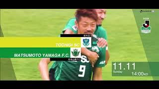 明治安田生命J2リーグ 第41節 栃木vs松本は2018年11月11日(日)栃木...