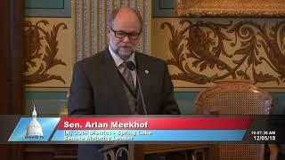 Sen. Meekhof and Michigan Senate honor life of President George H.W. Bush