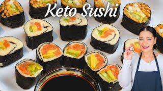 How to make Keto Sushi  using Keto Orzo Pasta as Rice
