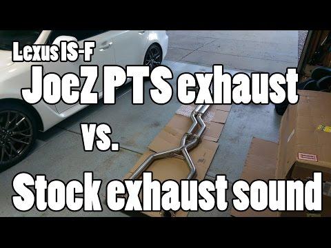Lexus IS-F - JoeZ vs Stock exhaust sound