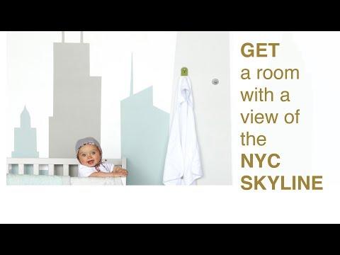 Wall Mural Decor - NYC DIY Skyline Mural Stencil Instructions