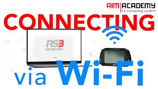 Aim Academy - Episode 13 - Connecting Via Wi-Fi - Race Studio 3