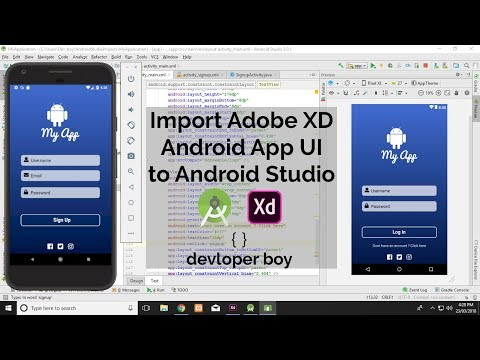 Import Adobe XD Android App UI  In Android Studio