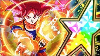 THE BEST GOD GOKU IN DOKKAN! 100% RAINBOW STAR TEQ GOD GOKU SHOWCASE! (DBZ: Dokkan Battle)