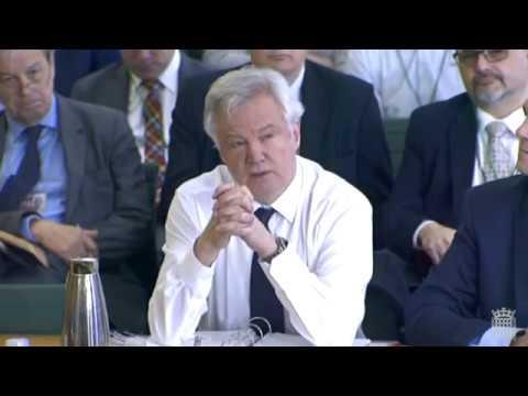 Brexit: Hilary Benn Asks David Davis About