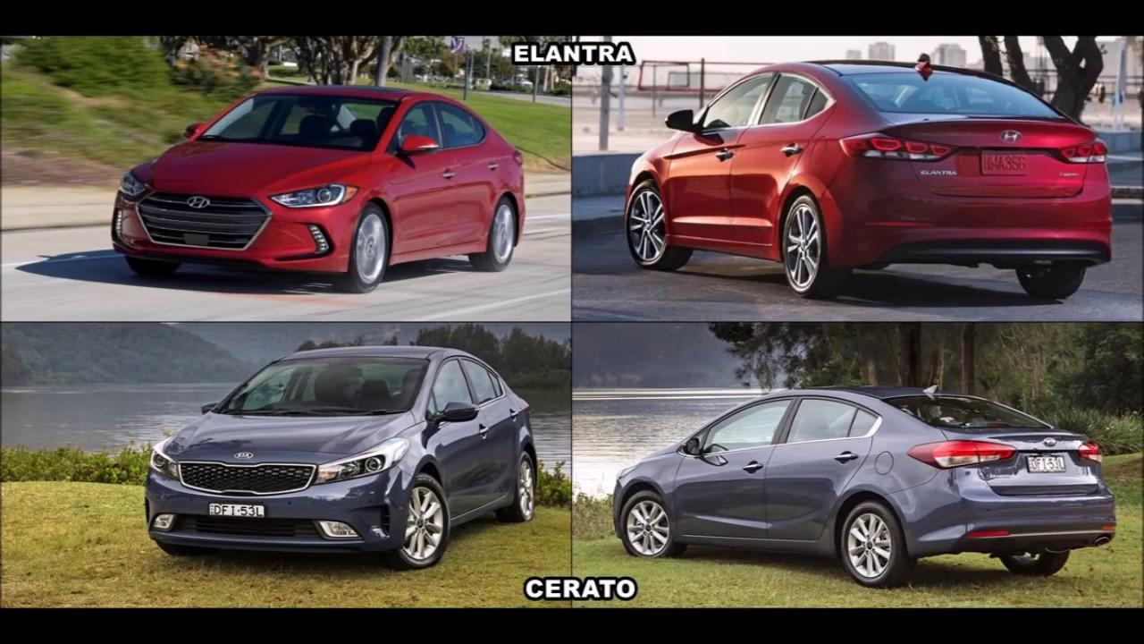 2017 Hyundai Elantra vs 2017 Kia Cerato Sedan - YouTube