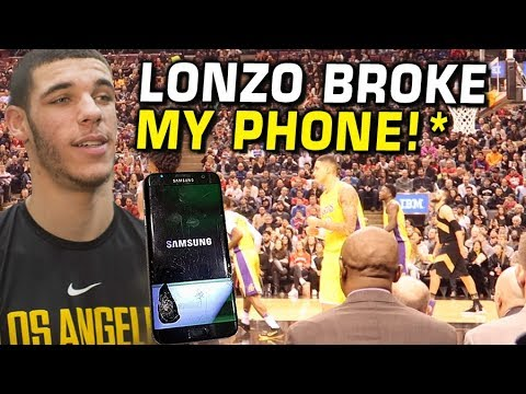 Lonzo Ball made me BREAK MY PHONE! First NBA Game VLOG!!