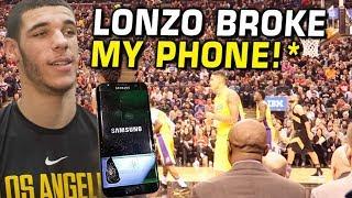 Lonzo Ball made me BREAK MY PHONE! First NBA Game VLOG!!
