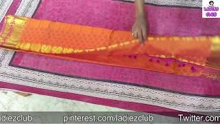 Kuchu Saree folding Tips without Hanger I Easy Method I Ladies Club