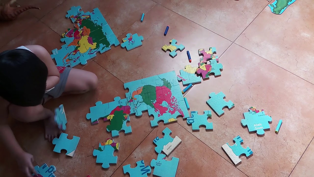 Map of the World Foam Puzzle - YouTube