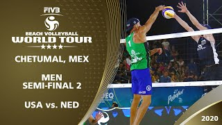 Men's Semi-Final: USA vs. NED | 4* Chetumal (MEX) - 2020 FIVB Beach Volleyball World Tour