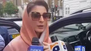 Maryam Nawaz talks with DawnNews in London