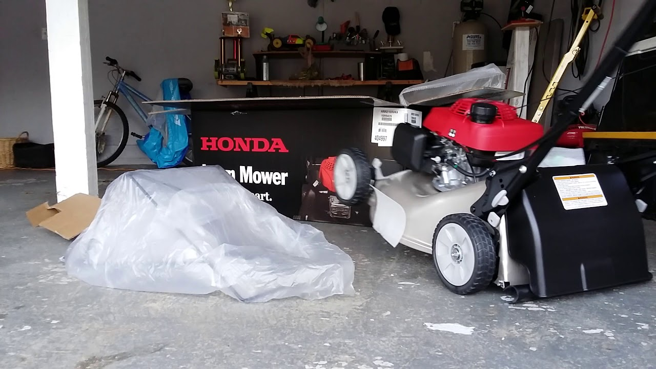 Honda lawn mower unboxing HRR 216 home depot $400