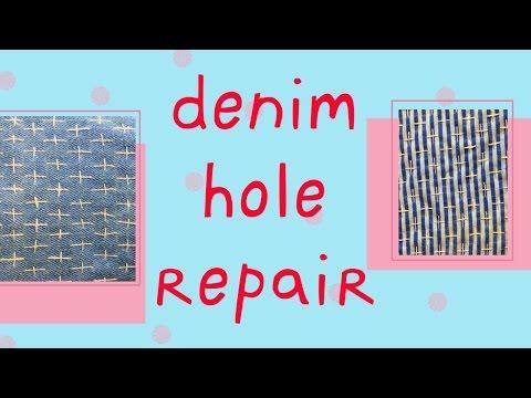 How to Patch a Hole - Denim Jeans Sashiko Embroidery